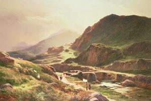 Highland Scene by Sidney Richard Percy