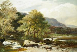 The River Conway, North Wales by Sidney Richard Percy
