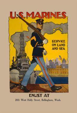 Active Service on Land and Sea by Sidney Riesenberg