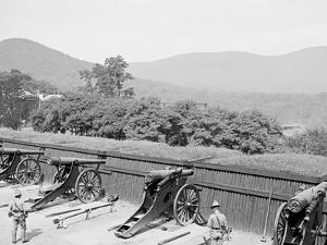 Siege Battery Drill, Firing, United States Military Academy, West Point, N.Y.
