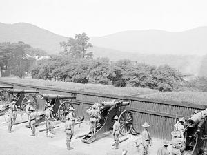Siege Battery Drill, Sponging after Firing, United States Military Academy, West Point, N.Y.