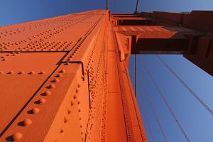 A Golden Gate Bridge Pier in Late Afternoon Sun by Siegfried Layda