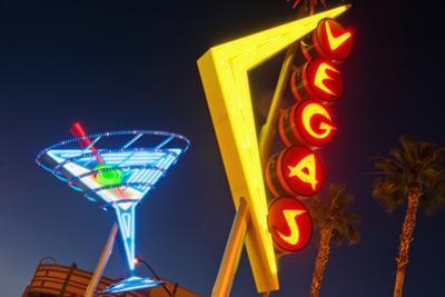 Neon Signs in Fremont Street, Downtown Las Vegas by Siegfried Layda