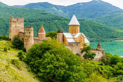 Ananuri Castle, a Castle Complex on the Aragvi River in Georgia by siempreverde22