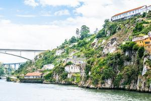 Architecture over the Coast of the River Douro in Porto, Portugal. View from the River Douro, One O by siempreverde22