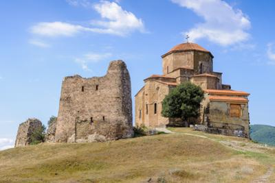 Beautiful Nature and Jvari Monastery, Georgian Orthodox Monastery of the 6Th Century on the Mountai by siempreverde22