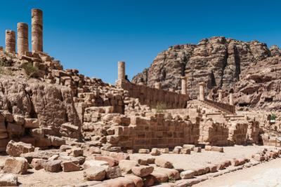 Great Temple Complex in Petra (Rose City), Jordan. the City of Petra Was Lost for over 1000 Years.