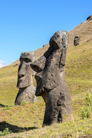 Moai in the Rapa Nui National Park, Easter Island, Chile, South America by siempreverde22