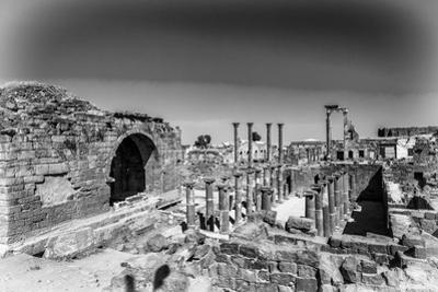 Roman Ruins North of the Citadel (In Black and White). City of Bosra, Syria. UNESCO World Heritage by siempreverde22