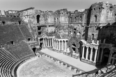 Roman Theatre at Bosra, an Ancient Roman Theatre in Bosra, Syria. (In Black and White) by siempreverde22