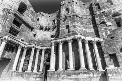 Roman Theatre (In Black and White) at Bosra, an Ancient Roman Theatre in Bosra, Syria. by siempreverde22