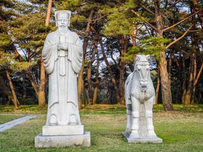 Scientifics and Horses Statues on the Road to the Tombs of Ancient Koguryo Kingdom, Pyongyang, Nort by siempreverde22