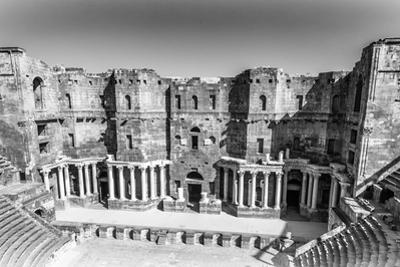 The 2Nd Century Roman Theater (In Black and White), Constructed Probably under Trajan. Ancient City by siempreverde22
