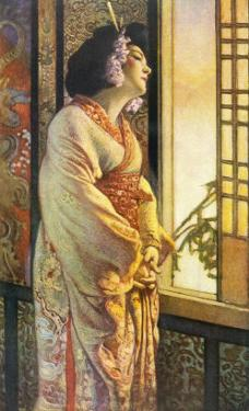 Blanche Bates in the Stage Play Madam Butterfly by Long and Belasco on Which the Opera is Based by Sigismond De Ivanowski