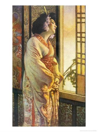 Blanche Bates in the Stage Play Madam Butterfly by Long and Belasco on Which the Opera is Based