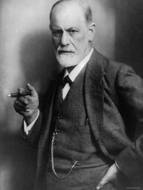 Sigmund Freud, Founder of Psychoanalysis, Smoking Cigar