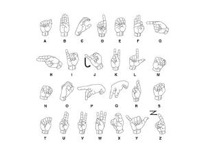 Sign Language Hands & Alphabet