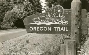 Sign Marking Oregon Trail, Near Columbia River