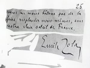 Signature of Emile Zola