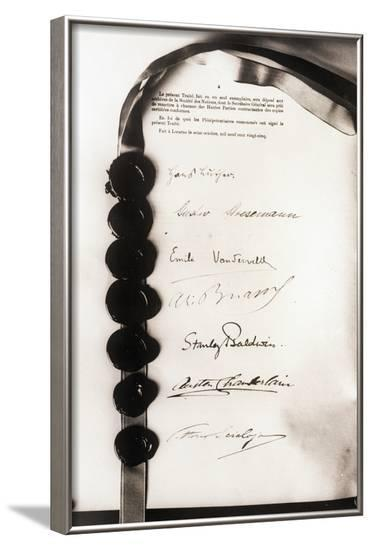 Signatures on Locarno Pact--Framed Photographic Print