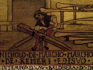 Signboard of Guild of Oar Making in Venice, Italy, 16th Century, Detail