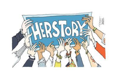 Herstory. by Signe Wilkinson