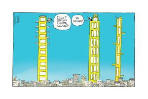 I don't see any income inequality! Me neither! by Signe Wilkinson