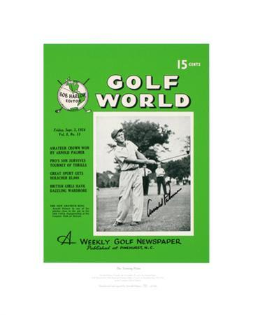 Signed Arnold Palmer's First Golf World Cover Limited Edition
