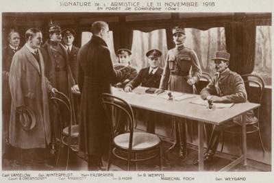 Signing of the Armistice to End the First World War, Forest of Compiegne, France, 11 November 1918