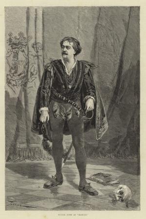Signor Rossi as Hamlet
