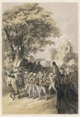 """Sikh Rebel """"Dewan Moolraj"""" in Custody after the Defeat of Sikh Forces in Mooltan"""