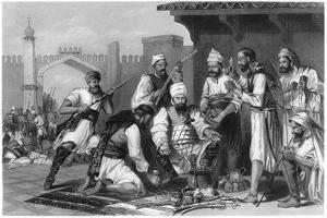 Sikh Troops Dividing the Spoils Taken from Mutineers , 1857