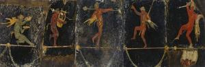 Sileni Tightrope Walkers from Villa of Cicero at Pompeii, Campania, Italy, 20 BC-45 AD