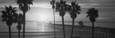 Silhouette of a Pier, San Clemente Pier, Los Angeles County, California, USA