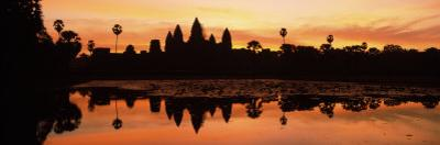 Silhouette of a Temple, Angkor Wat, Angkor, Cambodia