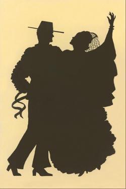 Silhouette of Flamenco Dancers