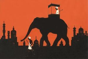 Silhouette of Indian Elephant