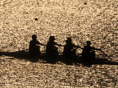Silhouette of Women's Fours Rowing Team, Atlanta, Georgia, USA