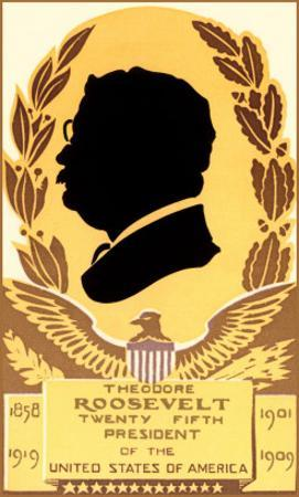 Silhouette Profile of Teddy Roosevelt