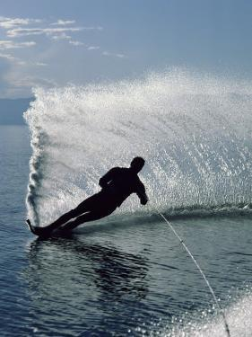 Silhouetted Water Skier