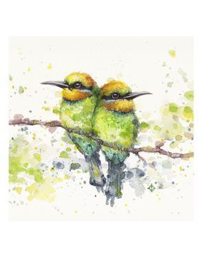 Family (Rainbow Bee Eaters) by Sillier than Sally