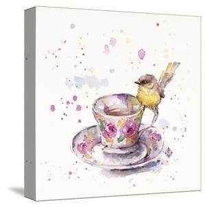 Tea Time (Eastern Yellow Robin) by Sillier than Sally