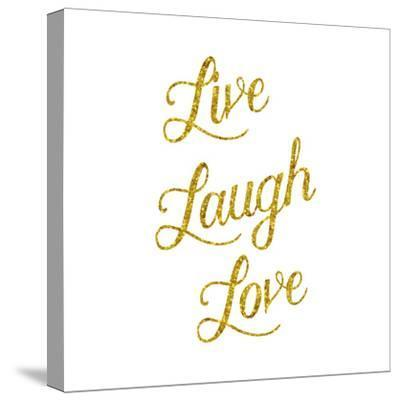 Live Laugh Love Gold Faux Foil Glittery Metallic Quote Isolated by silverspiralarts