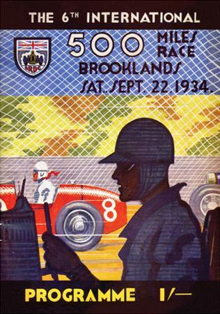 500 Miles Race 22nd Sept 1934 - Silverstone Vintage Print by Silverstone