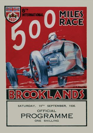 500 Miles Race Brooklands - Silverstone Vintage Print by Silverstone