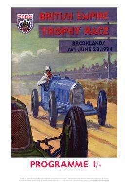 British Empire Trophy Race - Silverstone Vintage Print by Silverstone