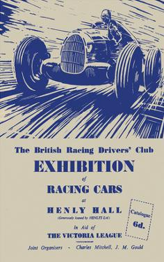 Exhibition of Racing Cars - Silverstone Vintage Print by Silverstone