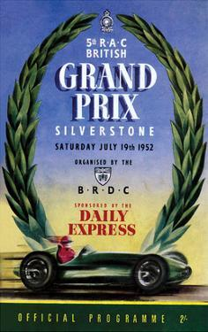 Grand Prix - Silverstone Vintage Print by Silverstone