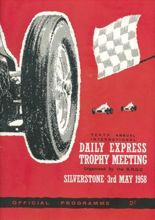 Official Programme 3rd May 1958 - Silverstone Vintage Print by Silverstone
