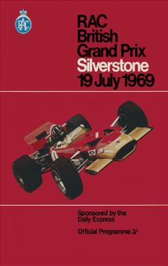 RAC British Grand Prix - Silverstone Vintage Print by Silverstone